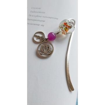 Zakładki do książek metalowe z kwiatem lotosu