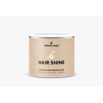 Natural Mojo HAIR SHINE kapsułki na suche włosy