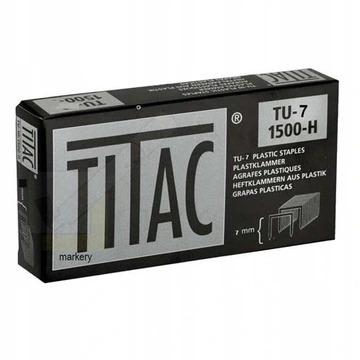 TITAC Zszywki plastikowe TU-7 twarde 1500 szt/ FV