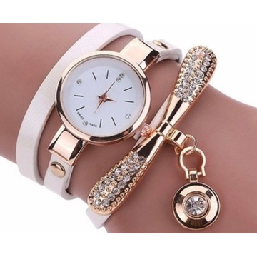 Stylowy zegarek damski z cyrkoniami