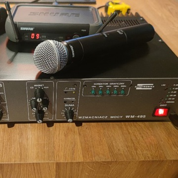 wzmacniacz WM495 + mikrofon Shure