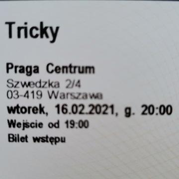 Tricky bilet koncert Warszawa 20.10.2021