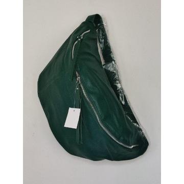 Zielona torebka torba nerka eko-skóra nowa