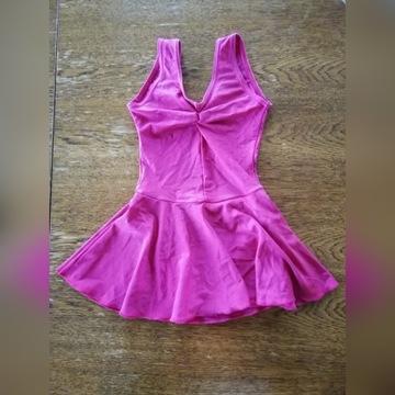 Body/Sukienka balet Arabesque 110-116 ciemny róż