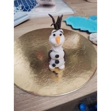 Olaf z masy cukrowej na tort
