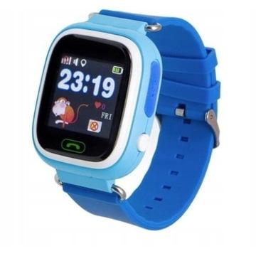 Niebieski smartwatch dla dzieci garett 2 gps