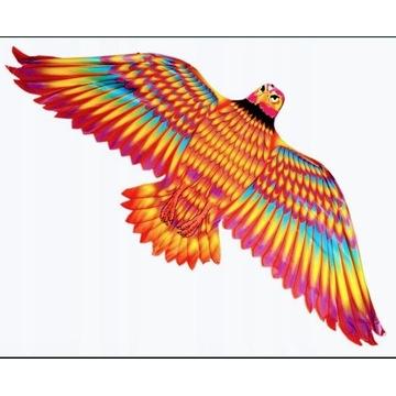 Duży kolorowy latawiec jastrząb 132 x 60cm