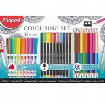 Maped ColorPeps kredki flamastry cienkopisy ZESTAW