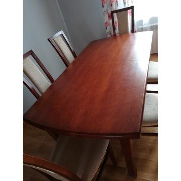 Stół dębowy rozkładany + 8 krzeseł