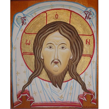 Obraz olejny - Jezus Chrystus / Mandylion / ikona