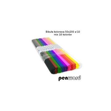 Bibuła marszczona kolorowa 50/200  mix 10 kol.