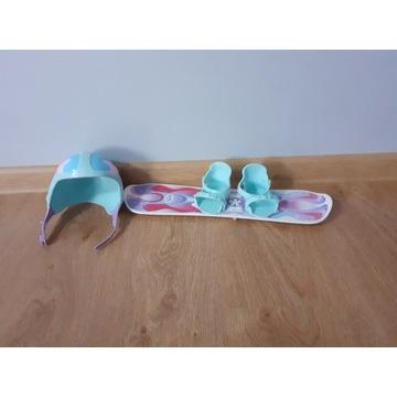 Baby born- oryginalna deska snowboard i kask