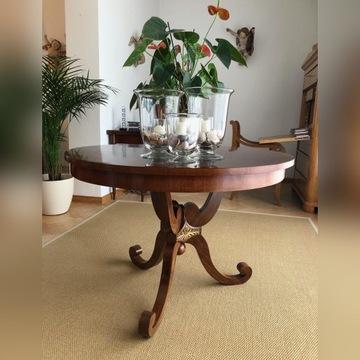 Biedermeier Stół mahoniowy z I połowy XIX wieku