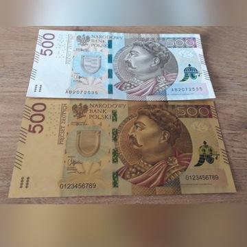 Banknot pozłacany 500zł.Jan III Sobieski.PREZENT.