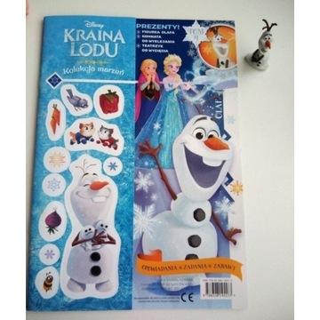Gazetka kraina lodu z figurką Olafa