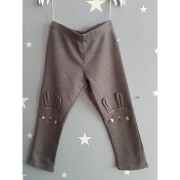 H&M - bawełniane legginsy, roz. 92