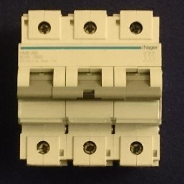 Wyłącznik 3 fazowy 100A Hager HMB390