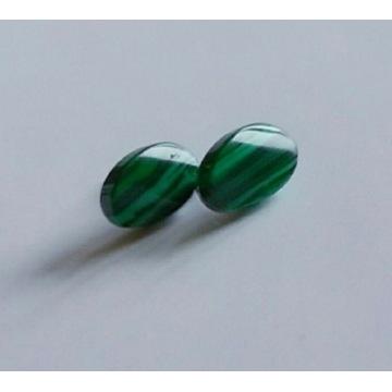 Kolczyki damskie zielone paski sztyft uszy ucha