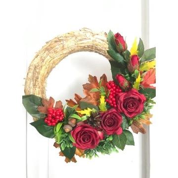 Wianek jesienny stroik dekoracja drzwi