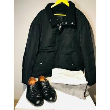 Ubrania męskie, kurtka, spodnie, buty, zestaw
