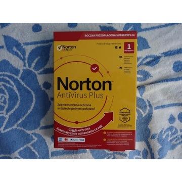 NORTON AntiVirus PLUS BOX 1.ROK 1.ST-NOWY -WYS.0zł