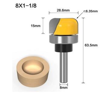 Frez do misek , wgłębień łożyskowany trzpień 8mm