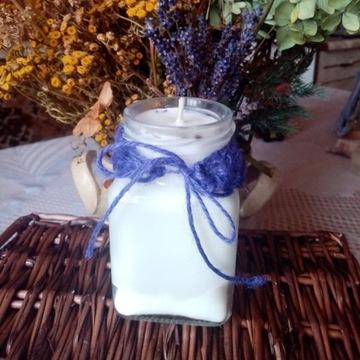 Świeczki sojowe - zapach lawenda ok. 160 gram