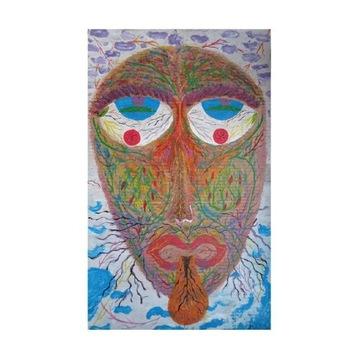 Obraz nowoczesny sztuka malarstwo abstrakcja folk
