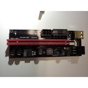 Riser PCI-E 1x-16x USB 3.0 SATA 6-PIN 009s