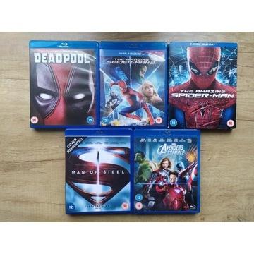 Zestaw Filmów Blu Ray - Marvel - DC - Avengers
