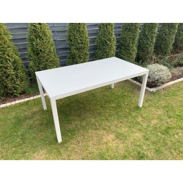 Nowoczesny stół 90/150 szkło i aluminium
