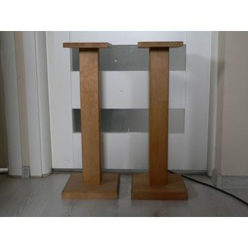 Podstawki pod kolumny 66cm naturalne drewno