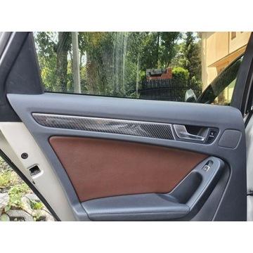 Audi A4 S4 RS4 dekory listwy carbon karbon włókno