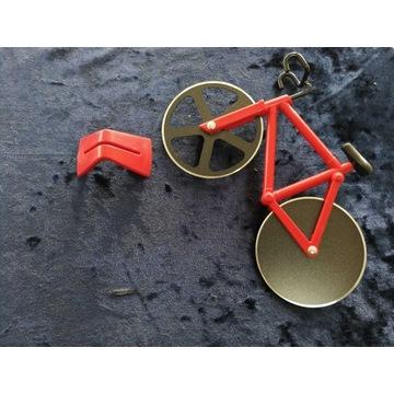 rower nóż do krojenia pizzy CZERWONY