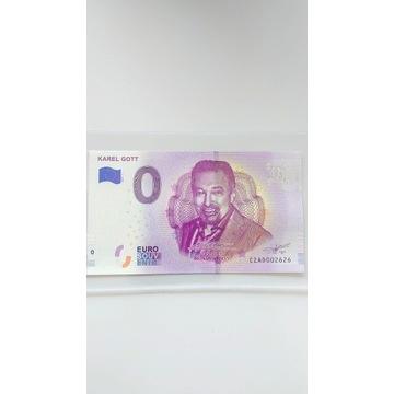 Banknot 0 euro Karel Gott radar 2626 unikat okazja