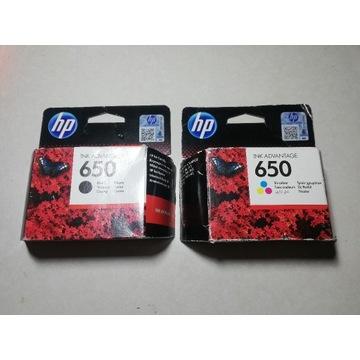 Komplet Tuszy do drukarki HP 650 CZARNY + KOLOROWY