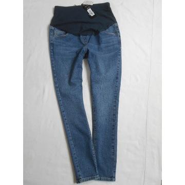 Ciążowe spodnie Jeans rurki z panelem__40 (L)