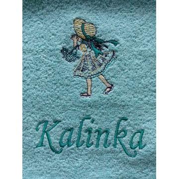 Ręcznik 30x50 z haftem imienia Kalinka upominek
