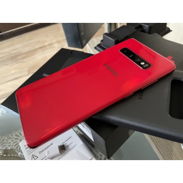 Nowy Samsung S10+ RED SM-G975F Dual 128GB/OrCover!
