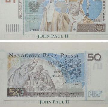 Banknot 50 zł Jan Paweł II 2006