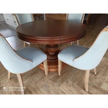 Włoski stół drewniany okrągły rozkładamy