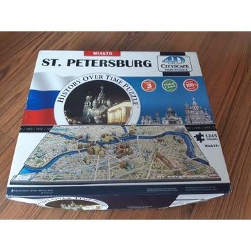 Puzzle 4D Sankt Petersburg 1245 elementów +budynki
