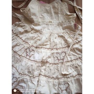 Sukienka letnia dziewczęca rozmiar 110 cm