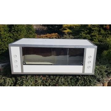 Aluminiowe terrarium 126x61x46 z ogrzewaniem i LED