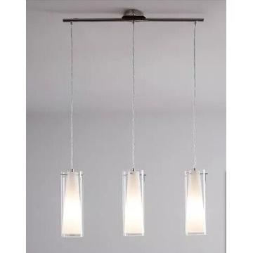 Nowa Lampa wisząca  3-punktowa chrom/szkło