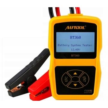 AUTOOL BT360 Tester akumulatora samochodowego 12 V