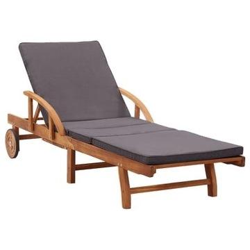 Leżak z poduszką, drewno akacjowe!