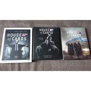 BLU-RAY, HOUSE OF CARDS, S 01, 02, 03, WERSJA EN