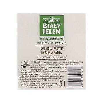 Biały Jeleń hipoalergiczne natural szare mydło 25l