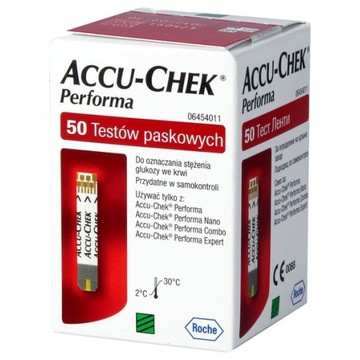Accu Check Performa 10 opakowań po 50szt - 08.2020